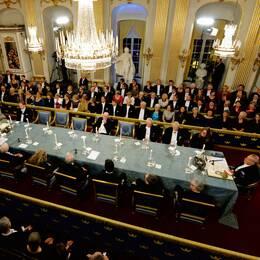 Svenska Akademien hålller sin årliga högtidssammankomst. Bilden är från ett tidigare år.