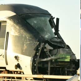 Passagerartåget fick omfattande skador vid olyckan