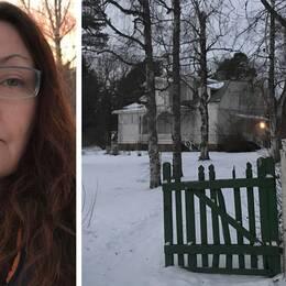 Porträtt på Else Ammor och bild från Petersvik.