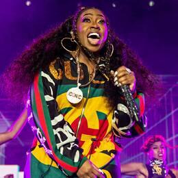 Missy Elliott på scen i New Orleans, USA