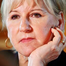 Margot Wallström på UD september 2018.