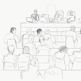 Skiss över rättegången