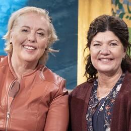 Suzanne Axell, programledare, och Karin Granberg, läkare, i Fråga doktorn.