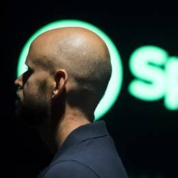 Spotifys grundare Daniel Ek på det nya huvudkontoret i Stockholm