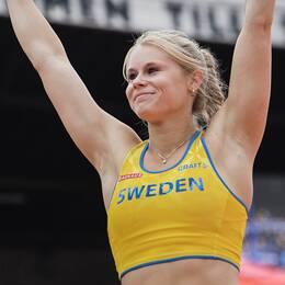 Michaela Meijer satte nytt svenskt inomhusrekord i Nordenkampen.