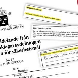 Kopia av fax från åklagarmyndigheten.