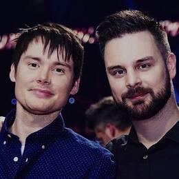 porträttbild på de två männen, Jimmy Jansson och Fredrik Sonefors
