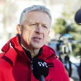 Octavian Morariu intervjuas av SVT.