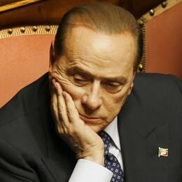 Imane Fadil och Silvio Berlusconi.