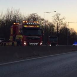 Flera olyckor stoppade rusningstrafiken utanför Lund under tisdagseftermiddagen.