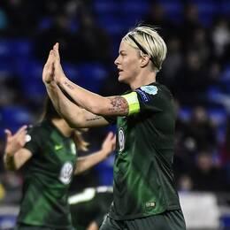 Nilla Fischer efter sin reducering mot Lyon.