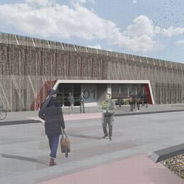 Illustration från Microsofts ansökan om bygglov i Gävle.