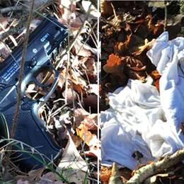 Polisens spårhund gjorde flera fynd nära brottplatsen, bland annat en soft air-gun och en t-shirt som har kunnat kopllas till utredningen.