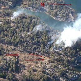 Brand på ön Håskö
