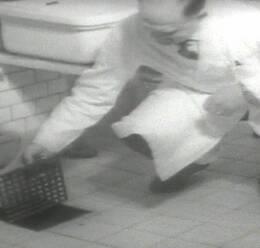 I ett inslag i SVTs Aktuellt i mars 1961 visas det brunnslock upp som en kriminalpatient använde som mordvapen.