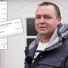 Krister Fredriksson fick en chock när Kronofogdemyndigheten ringde och berättade att löneutmätningarna från december till nu aldrig betalats in.