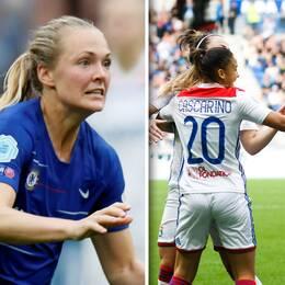 Chelseas Magdalena Eriksson gjorde självmål i semifinalen mot Lyon.