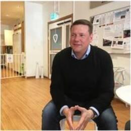 Kommunals ordförande besökte Bergvikens äldreboende under fredagen.