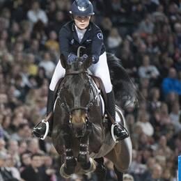Evelina Tovek och hästen Dalila de la Pomme.