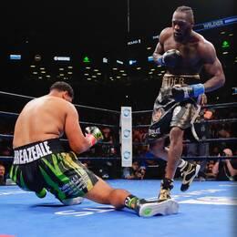 Deontay Wilder knockade Dominic Breazeale i nattens titelmatch i New York.