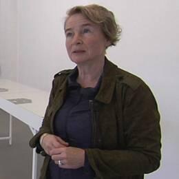 Sprängningar i berg när Västlänken skall byggas orsakar skador på fastigheter menar konstkoordinatorn Ulla Mogren.