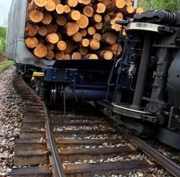 Tåg urspårat mellan Sollefteå och Långsele.