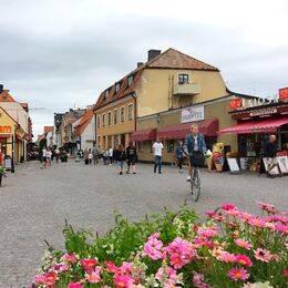 Södertorg och Adelsgatan i Visby, Gotland