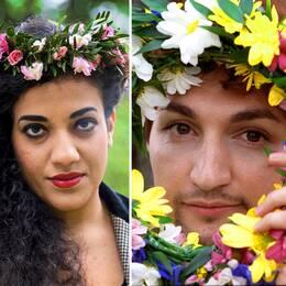 Bilder på tre tidigare sommarpratare vars program väckt uppmärksamhet: poeten Athena Farrokhzad, artisten Thomas Di Leva och musikern och författaren Kristian Gidlund.