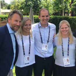 Det är god stämning i den svenska delegationen inför morgondagen