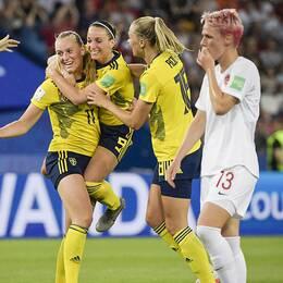 Sverige klart för VM-kvart efter stort drama