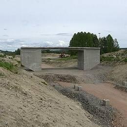 Brobygget i Dingersjö, Njurunda.