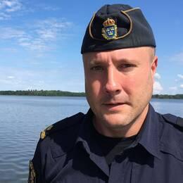 Porträtt på kommunpolis Peter Sigurd i Eskilstuna