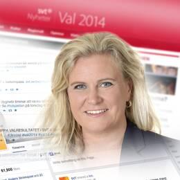 Claes Elfsberg och Camilla Kvartoft leder valvakan i SVT.