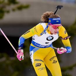Hanna Öberg slutade tvåa i Blinkfestivalens sprint.