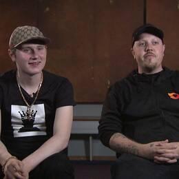 Rapparna Einár och Sebastian Stakset.