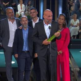 Joachim Dyfvermark och Uppdrag granskning tog hem årets granskning för Swedbank och penningtvätten vid TV-priset Kristallen 2019 på Cirkus