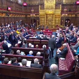 Överhuset i det brittiska parlamentet.
