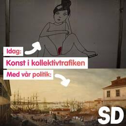 """2018 föreslog Sverigedemokraterna att Liv Strömquists verk The night garden skulle bytas ut mot ett klassiskt motiv i Stockholms tunnelbana. Nu blir samma förslag verklighet i Sölvesborg, där kommunen vill sätta stopp för vad man kallar för """"menskonst""""."""