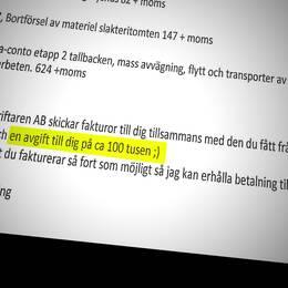 Mail från Daniel Kindberg till Sollefteåföretagaren.