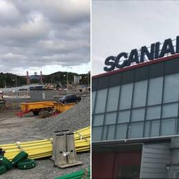Montage av bygget vid Igelsta strand samt Scaniarinken