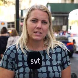 Carina Bergfeldt på plats i New York under Greta Thunbergs tal