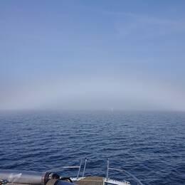 Dimma i Öresund söndag 22 september.