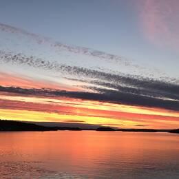 Fin kväll på Norra Lagnö, Värmdö.