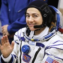 Jessica Meir tar historiskt steg ut i rymden