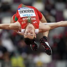 Dmitrij Nabokau, här under VM i Qatar, har testats positivt i ett dopningsprov.