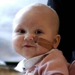 Lilla Louise lider av leukemi.
