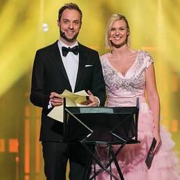 Sanna Nielsen och Robin Paulsson.