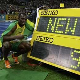 Bolt vann på världsrekord 9,58