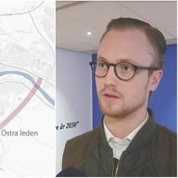 Trafikled centrumbron Skellefteå.