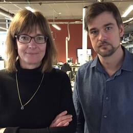 SVT Nyheter Skånes reportrar Ylva Esping och Olle Palm.
